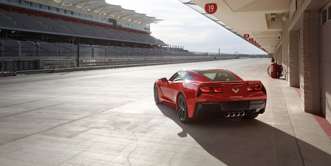 2018 Corvette Stingray Exterior Photo: Spice Red rear