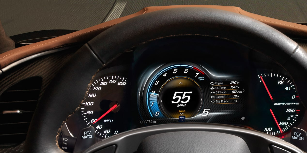 2018 Corvette Stingray Sports Car Performance: instrument cluster