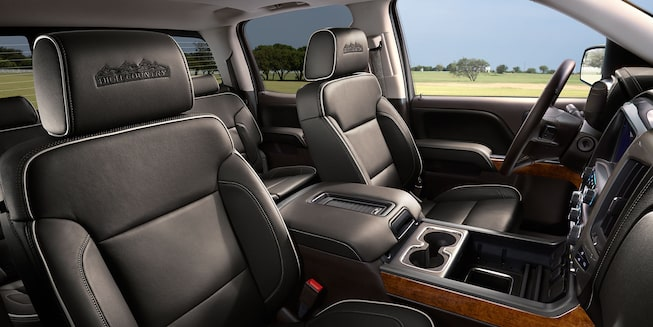 2018 Silverado 1500 Pickup Truck Interior Photo: leather seats