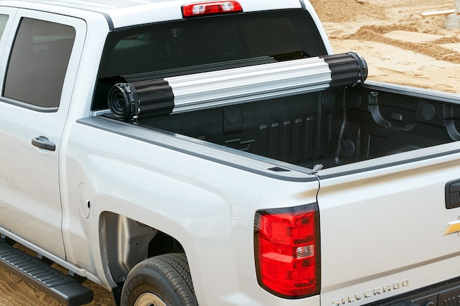 2018 Silverado 1500 Accessories: Tonneau Cover-hard rolling