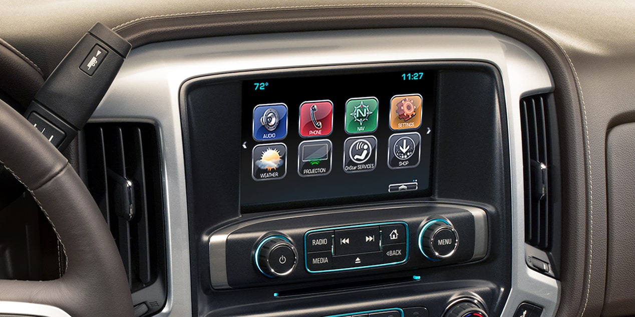 2018 Silverado 1500 Pickup Truck MyLink Color Touch Radio