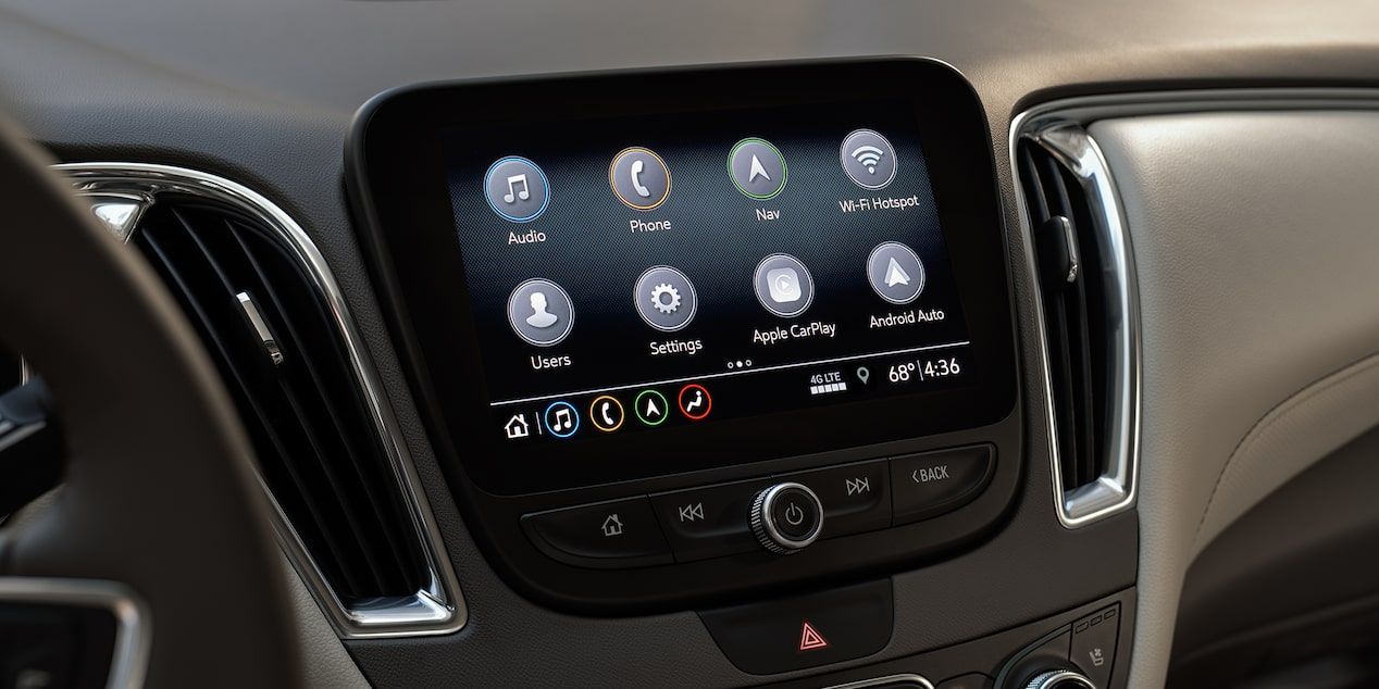 2019 Malibu Midsize Car Vehicle Technology: Color Touch Screen