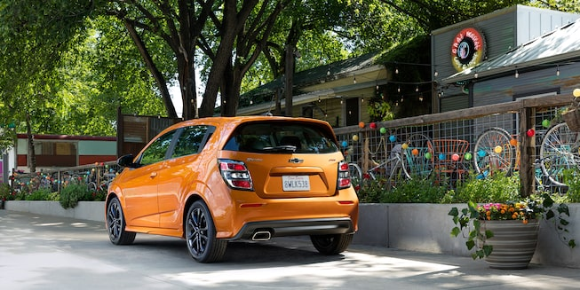 Chevrolet 2019 Sonic Compact Car Exterior Photo: hatchback rear view