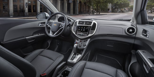 Chevrolet 2019 Sonic Compact Car Interior Photo: front seats