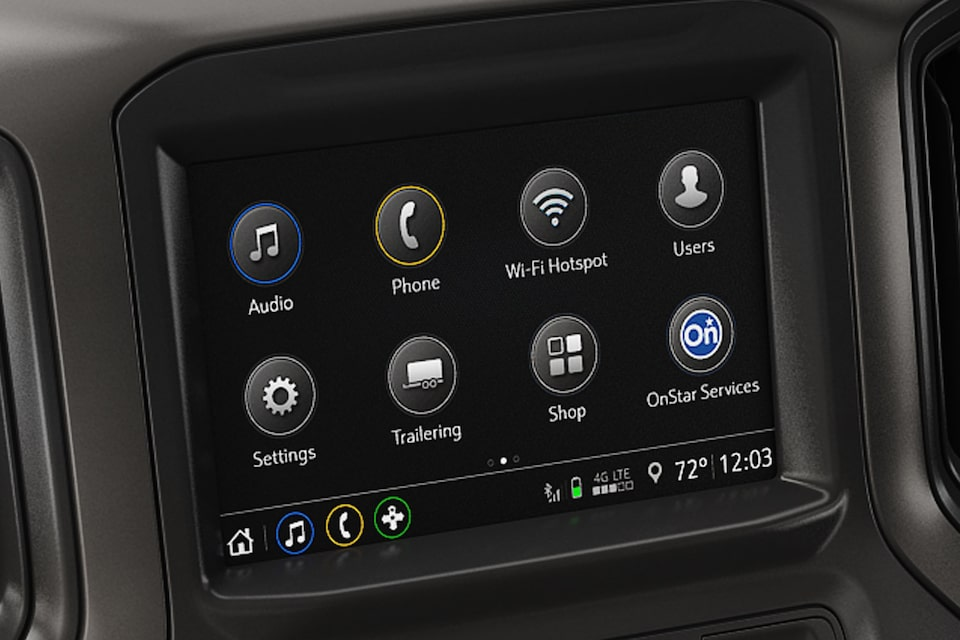 2019 Silverado Commercial: Color Touch Screen Radio