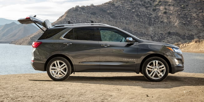 2019 Equinox Small SUV Exterior Side Photo with Trunk Open
