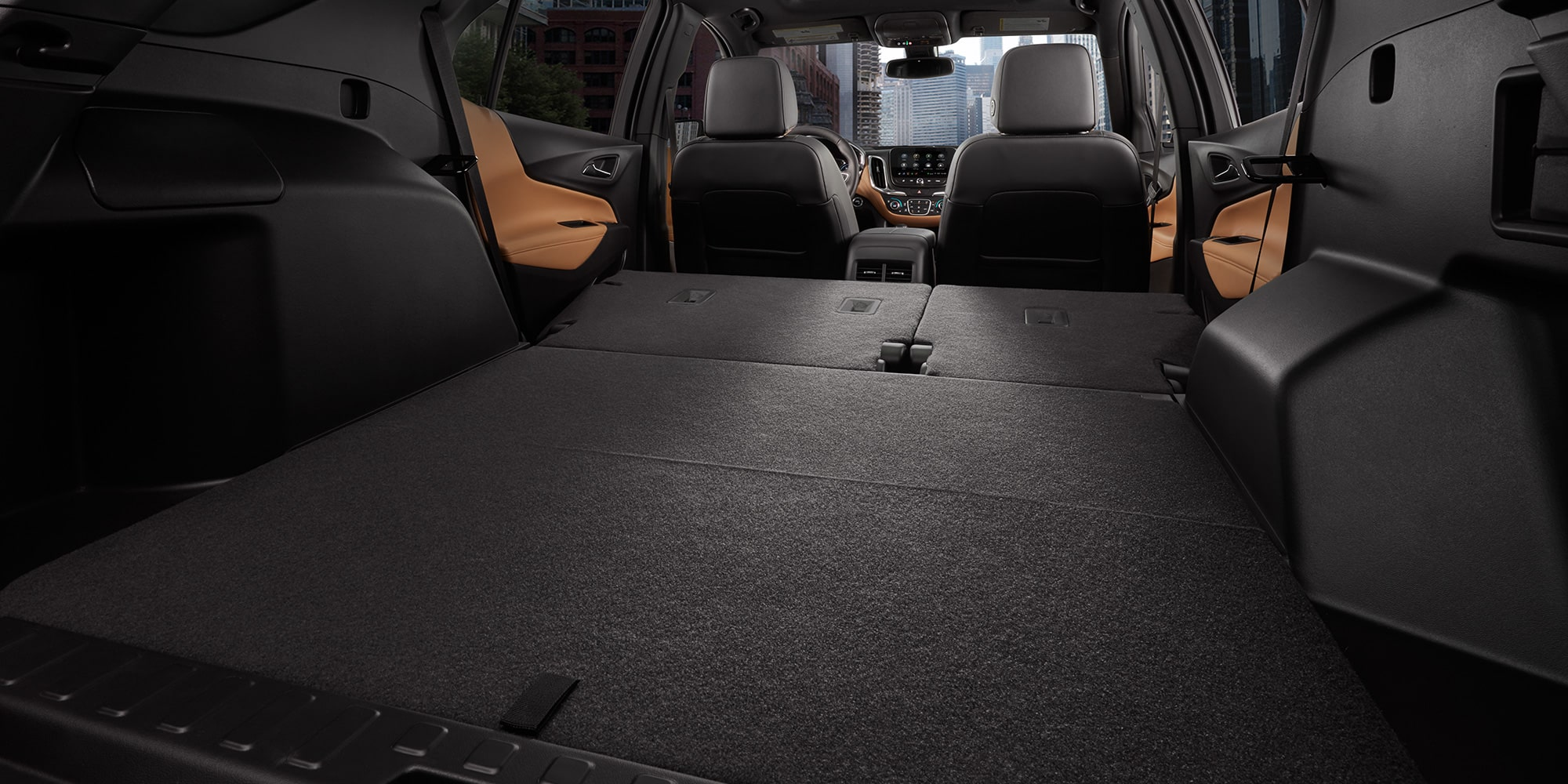 Beautiful 2019 Equinox Small SUV Interior Photo Of The Cargo Space With Rear Seats  Folded