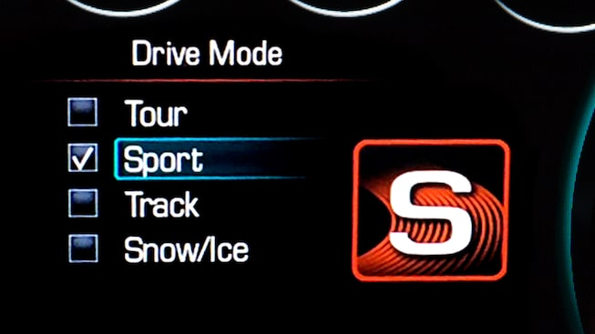 2019 Camaro: Drive mode selector screen