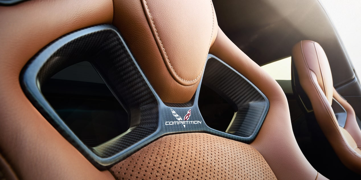 2019 Corvette Stingray Sports Car Design: competition sport seats - Kalahari