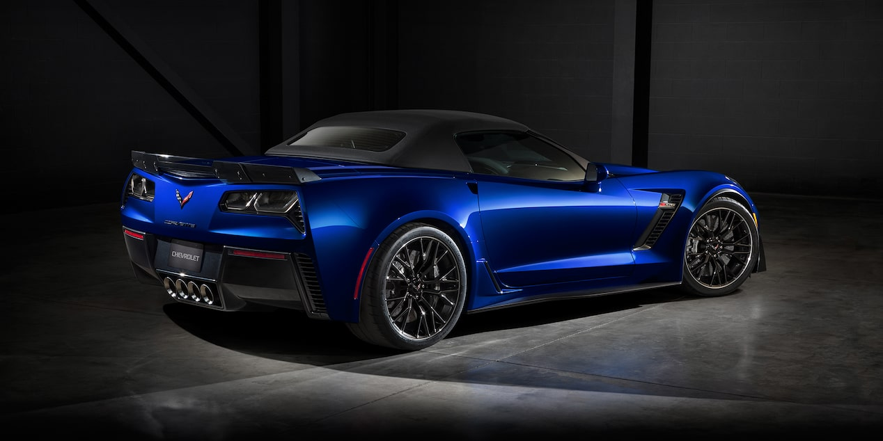 2019 Corvette Z06 Super Car Design Convertible Rear