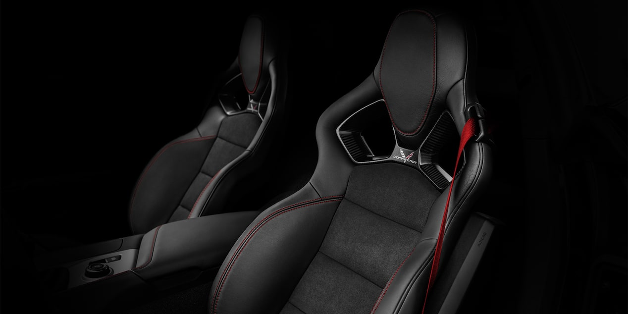2019 Corvette Z06 Super Car Design: competition sport seats - Black