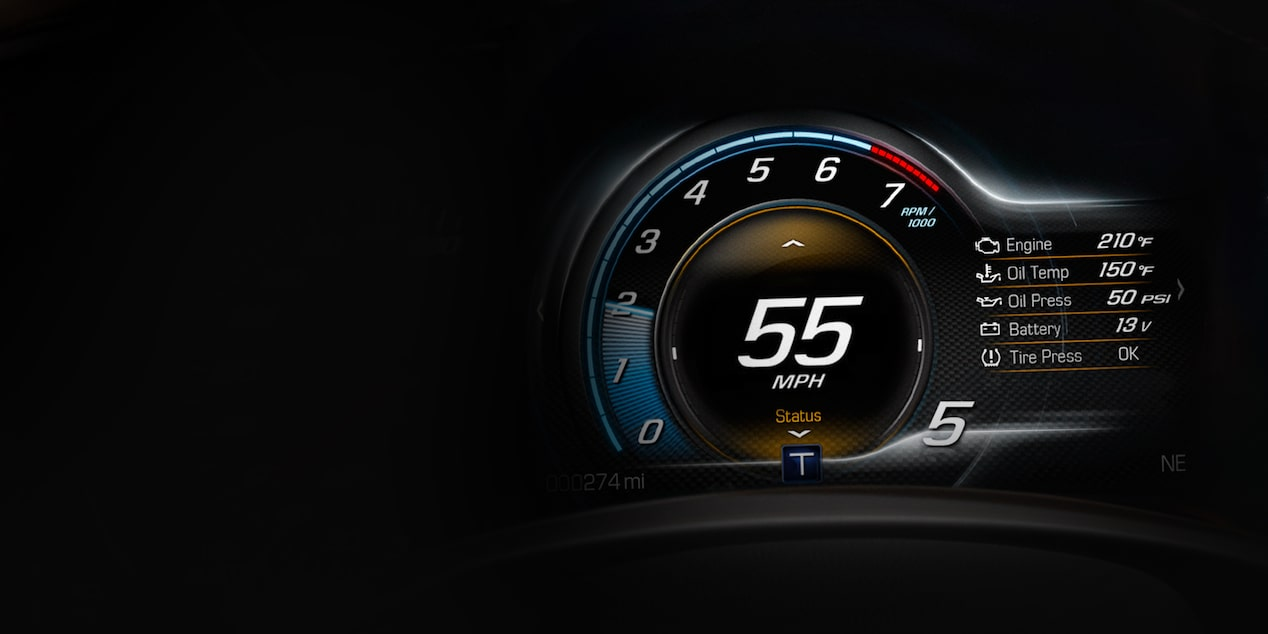 2019 Corvette ZR1 Sports Car Technology: instrument cluster