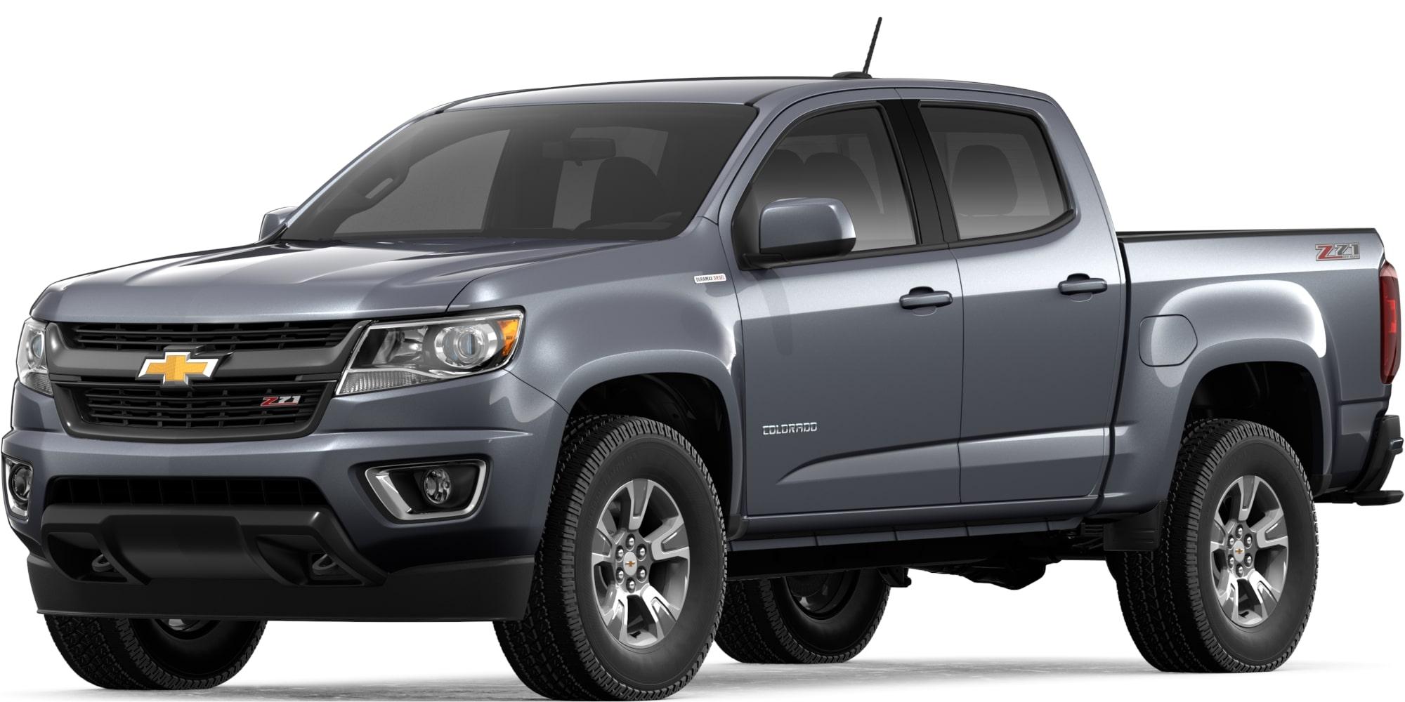 2019 colorado mid size truck diesel truck Blue Chevy Colorado satin steel metallic