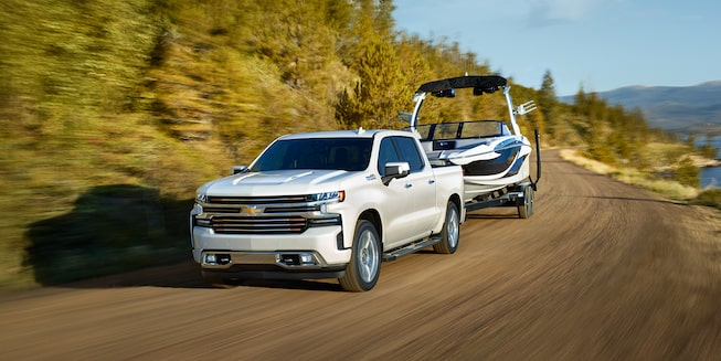2019 Silverado 1500 Pickup Truck Exterior Photo: front view towing
