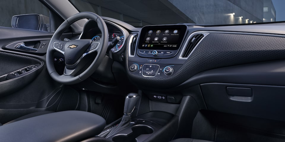 2020 Chevy Malibu Midsize Car Jet Black interior