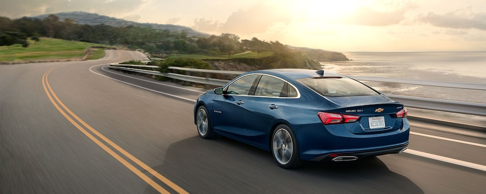 2020 Chevy Malibu Midsize Car Side Rear View