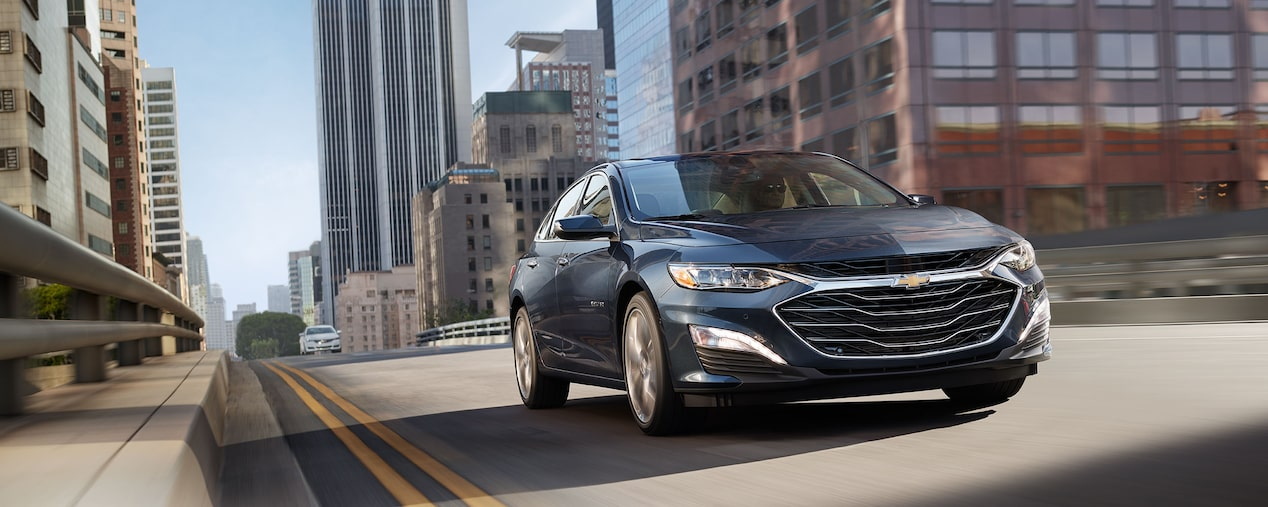 2020 Chevy Malibu Midsize Car Front Driving View