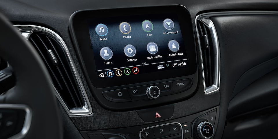 2020 Chevy Malibu Midsize Car Color Infotainment 3 System