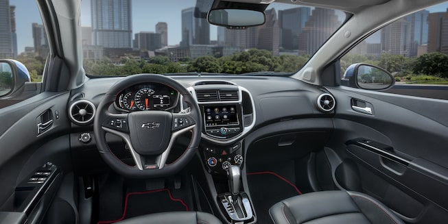 2020 Chevrolet Sonic Small Car Interior Dashboard Driver View