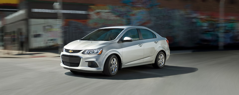 2020 Chevrolet Sonic Small Car Front Driver Side Angle View