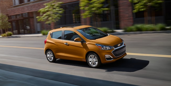 2020 Chevy Spark Compact Car Dash Down Narrow Street