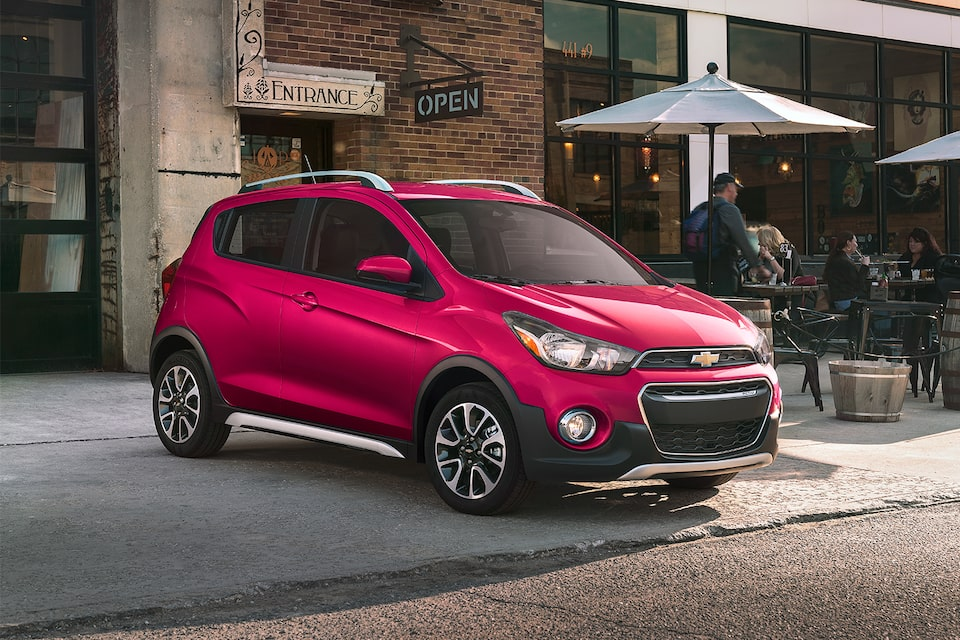 2020 Chevy Spark Compact Car Raspberry Side Profile & Front View