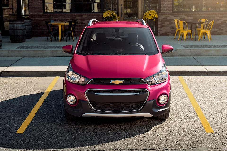 2020 Chevy Spark Compact Car Raspberry Front Fog Lights View