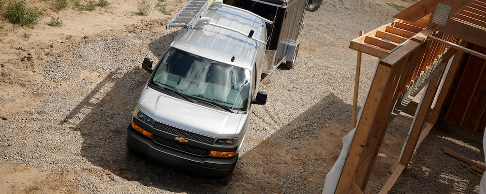 2020 Express Cargo Van at work site