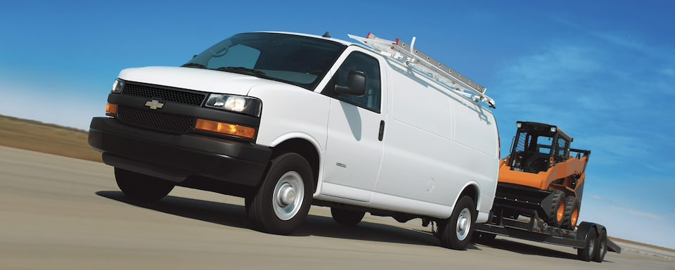 2020 Chevrolet Express cargo Van on Road