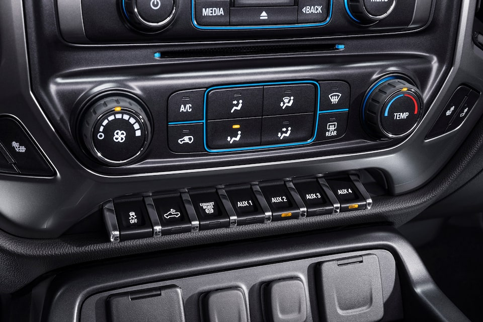 Silverado Chassis Cab Technology: Auxiliary switches