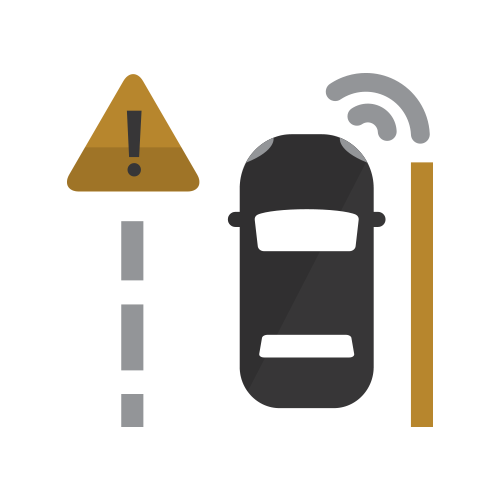 Lane Keep Assist with Lane Departure Warning Icon hover