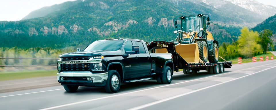 2020 Chevy All-New Silverado HD Truck: tractor being towed