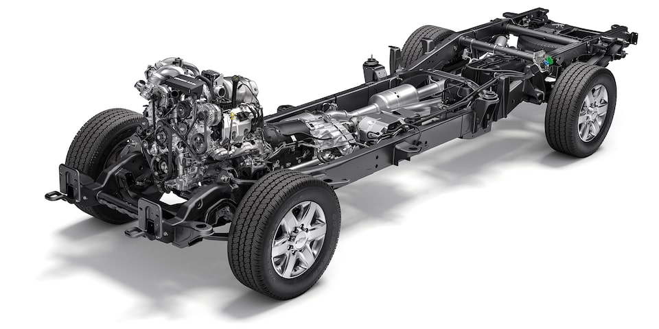 2020 Chevy All-New Silverado HD Truck: chassis view