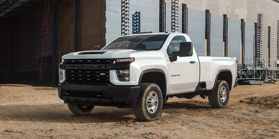 2020 Chevy All-New Silverado HD Truck: regular cab corner view
