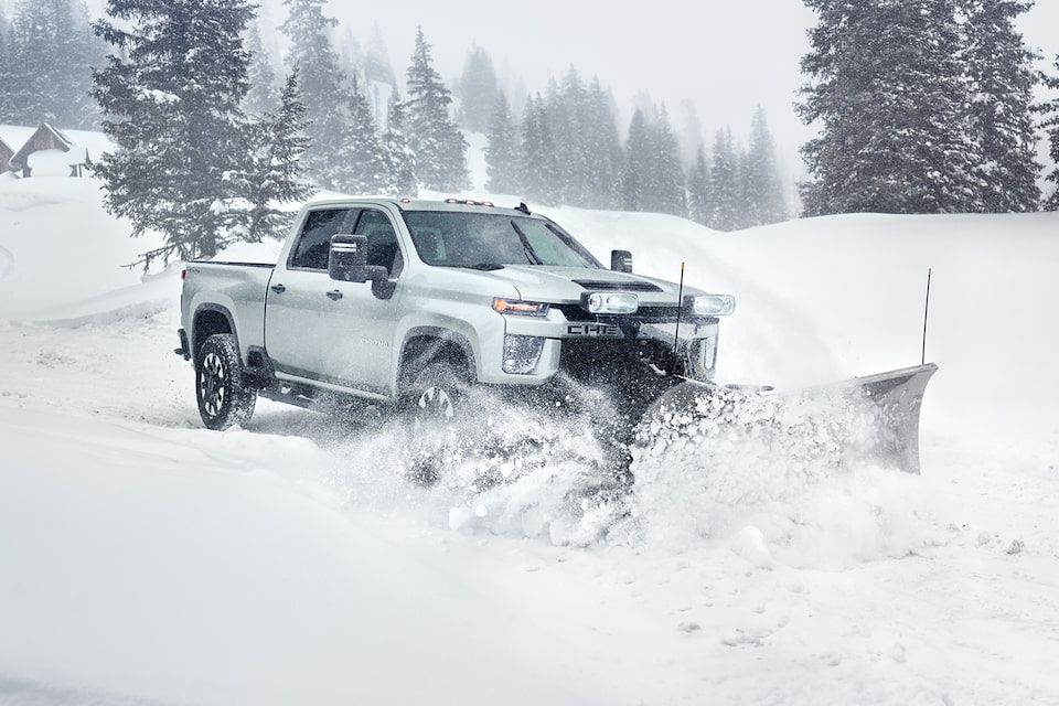 2020 Chevy All-New Silverado HD Truck: snow shovel