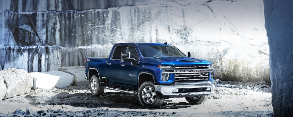 2020 Chevy All-New Silverado HD Truck: corner front shot