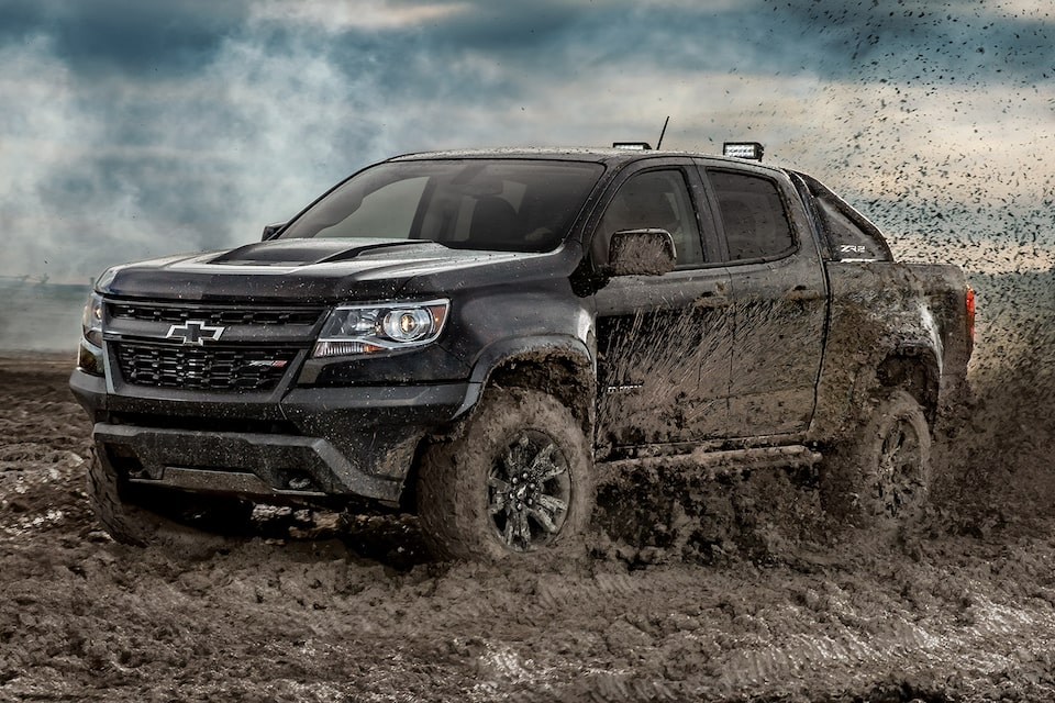 2020 Chevrolet Colorado ZR2 Midnight Edition Off-Road Truck driving in mud