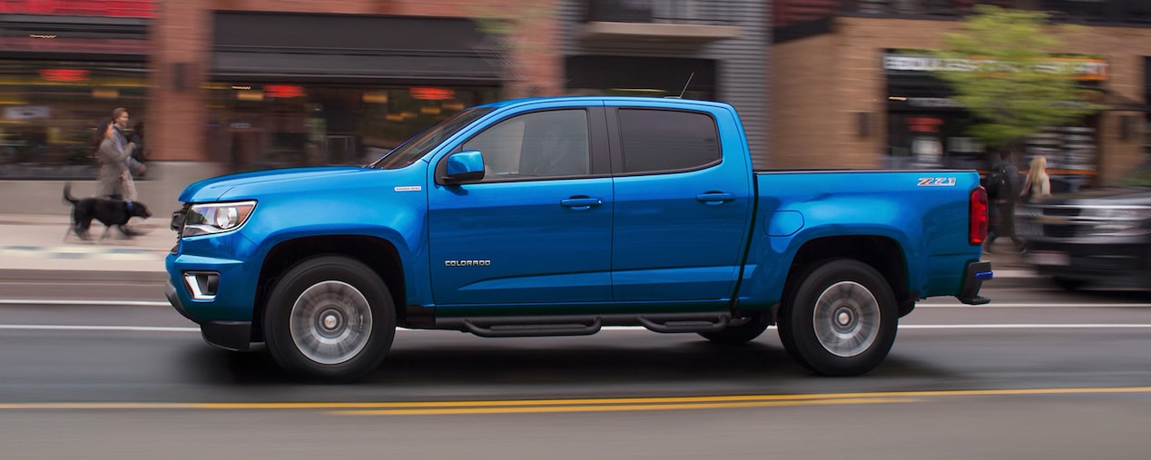 2020 Chevrolet Colorado Mid-Size Truck Front Passenger Side Angle View
