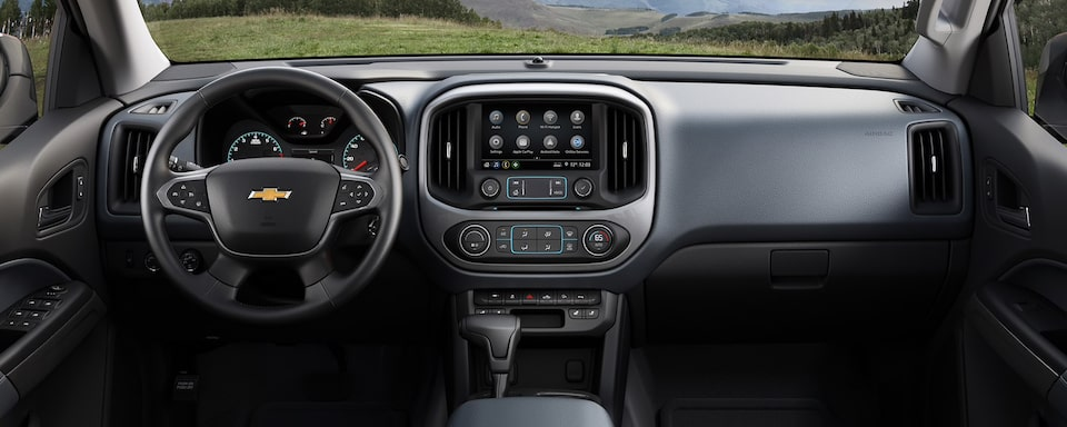 2020 Chevrolet Colorado Mid-Size Truck Front Dashboard View