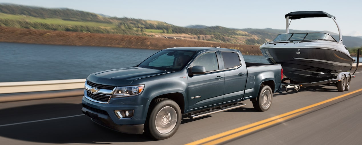 2020 Chevrolet Colorado Mid-Size Truck Towing Boat
