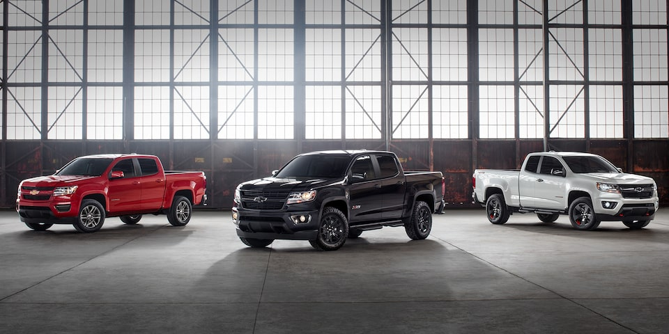 2020 Chevrolet Colorado Mid-Size Truck Special Editions line up