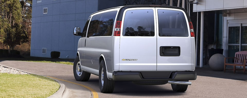 2021 Chevy Express Passenger Van: Rear View