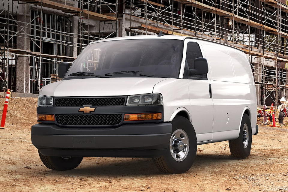 2021 Chevy Express Van at Work Site