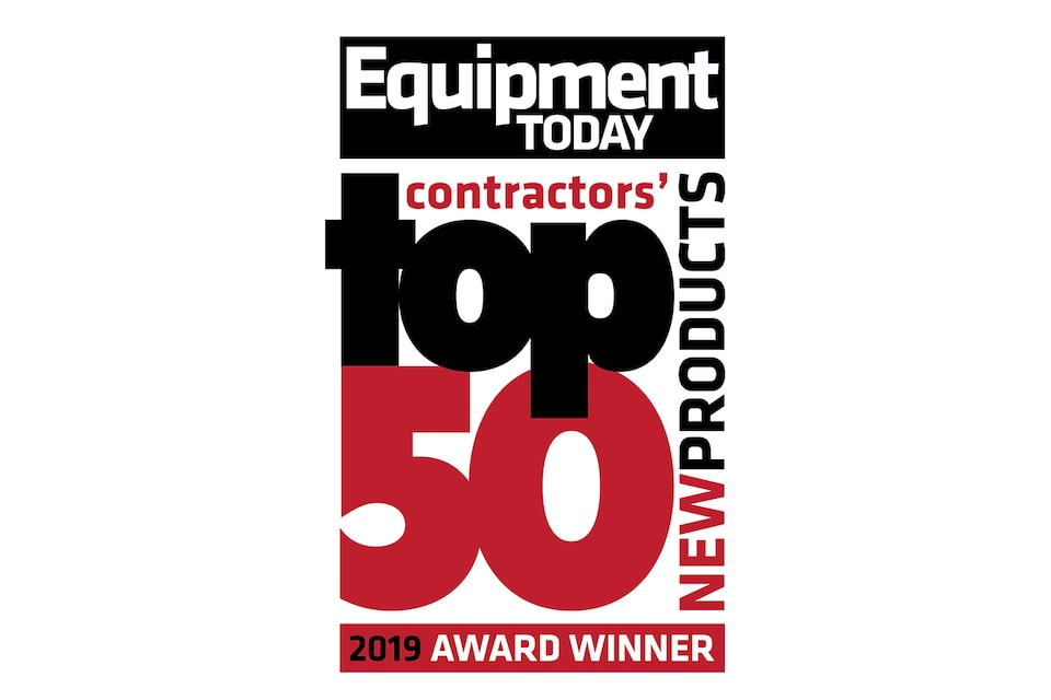 Equipment Today's 2019 Contractors' Top 50 New Products award