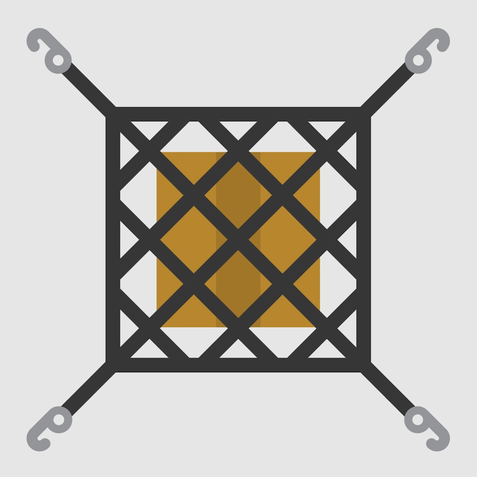 Horizontal Cargo Net Icon