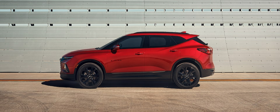 2021 Chevy Blazer Sporty SUV: driver's side profile