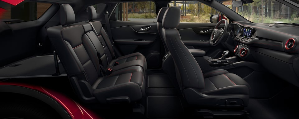 2021 Chevy Blazer Sporty SUV: interior seating