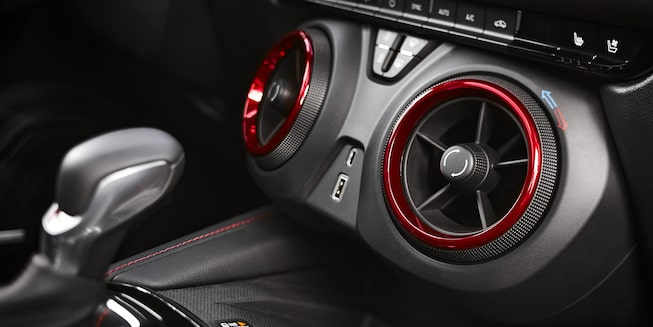 2021 Chevy Blazer Sporty SUV: interior shift knobs with the air ionizer