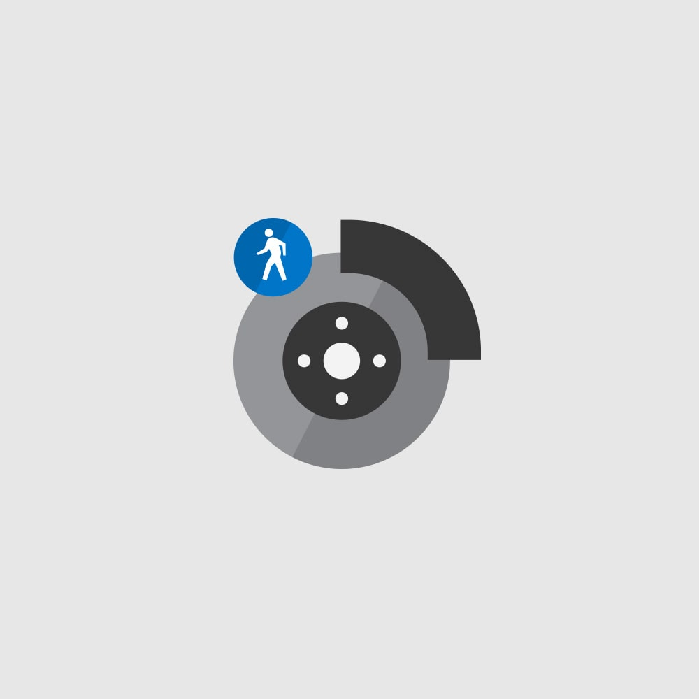 Front Pedestrian Braking Icon