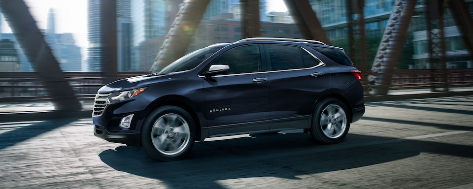 2021 Equinox SUV Side Profile Shot on Bridge